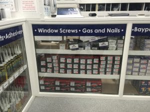 Upvc Trade Counter Window Screws & Gas And Nails