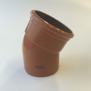Underground Drainage 30 Degree Single Socket Bend