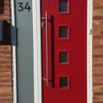 Red Composite Door Fitted In Aylesbury