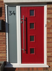 Red Composite Door Fitted In Aylesbury