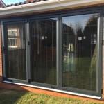 Anthracite Aluminium Bi Folding Door Fitted In Aylesbury