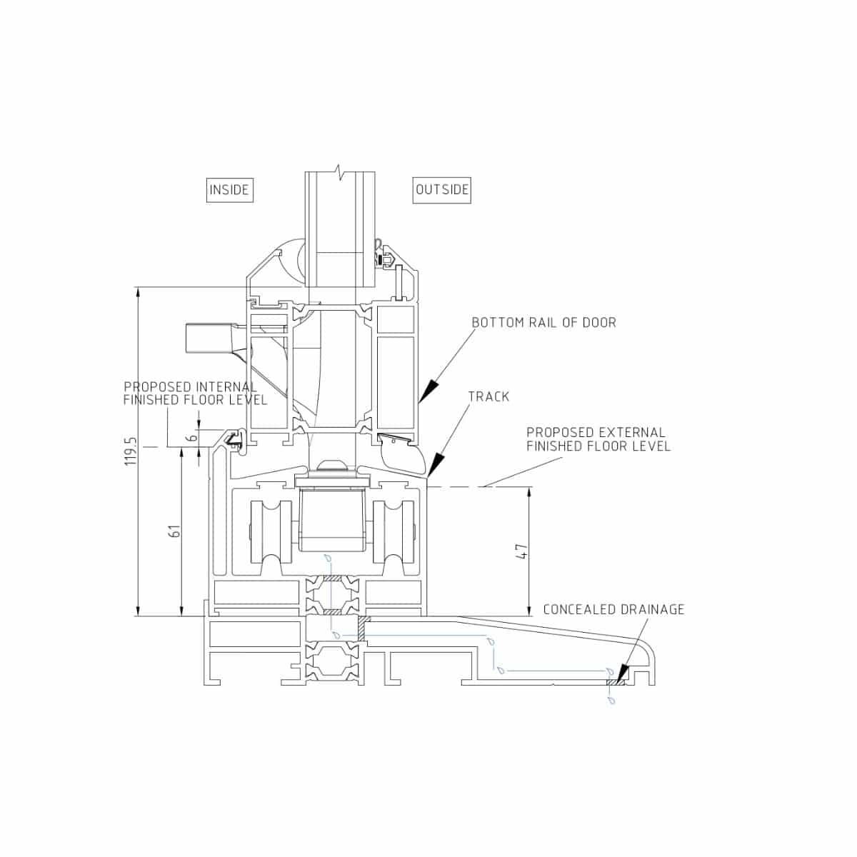 Door Cill Detail 58BD Cill Detail Low Threshold Sc 1 Q  sc 1 st  Mrsilva.us & Entry Door Threshold Detail - home decor - Mrsilva.us